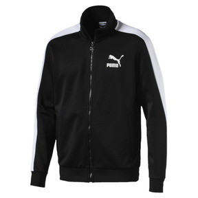 Thumbnail 1 of Classics T7 Men's Track Jacket, Puma Black, medium