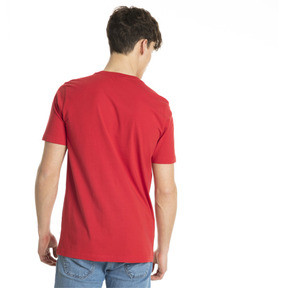 Thumbnail 3 of Classics Logo Men's Tee, Ribbon Red-1, medium