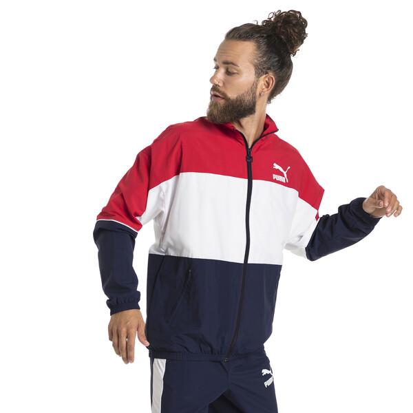 Archive Men's Retro Woven Track Jacket, Peacoat, large
