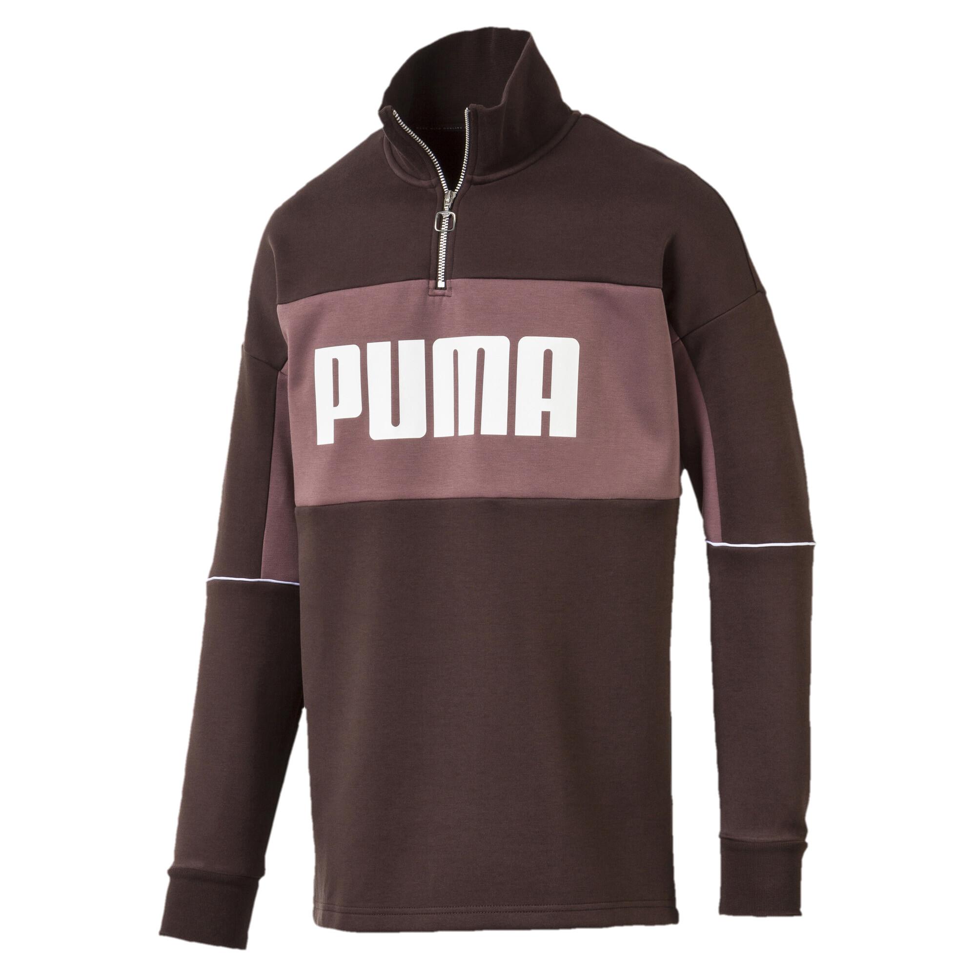 Image Puma Retro Quarter Zip Turtleneck Men's Pullover #4