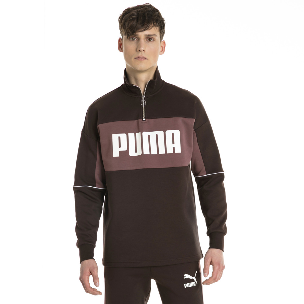 Image Puma Retro Quarter Zip Turtleneck Men's Pullover #2