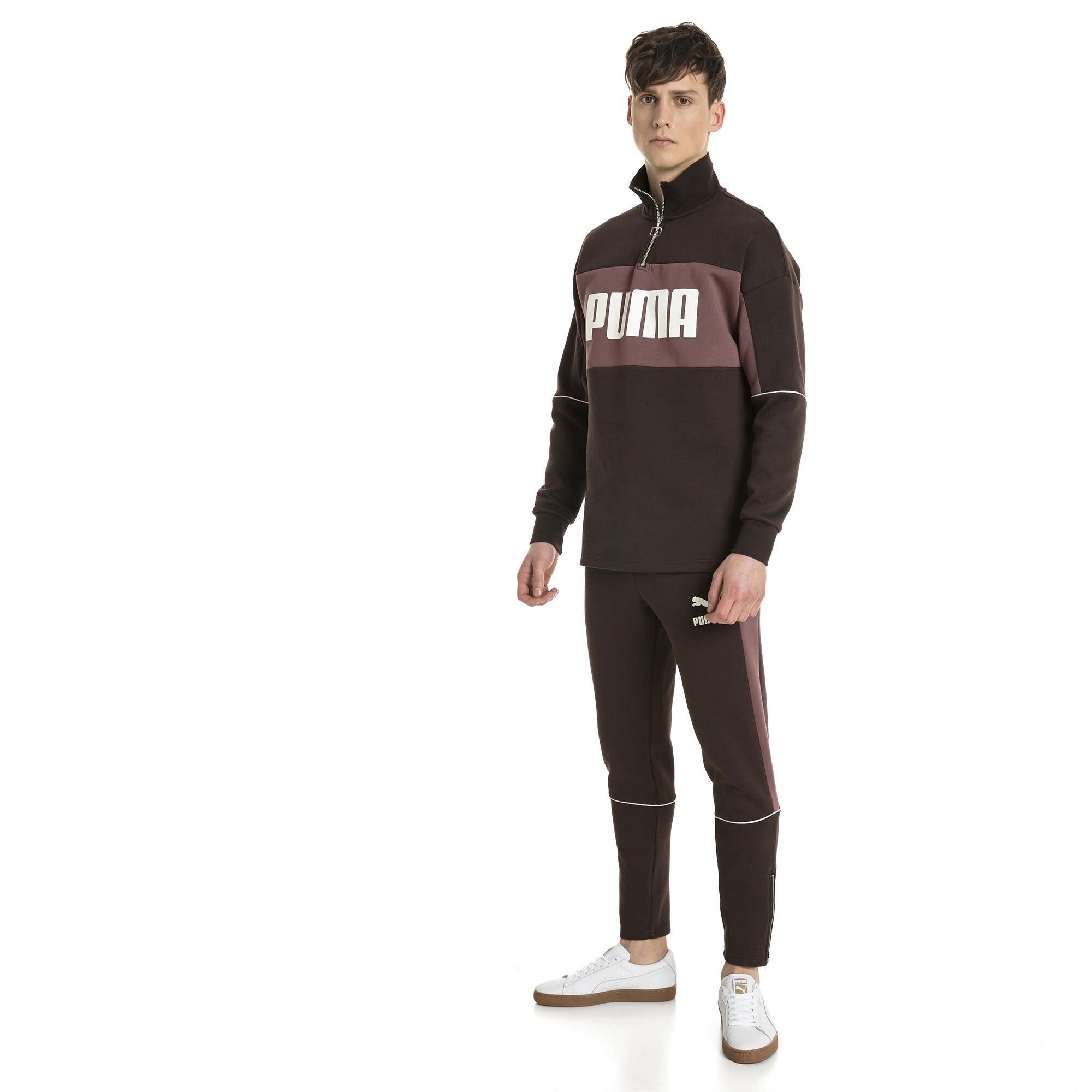 Image Puma Retro Quarter Zip Turtleneck Men's Pullover #3