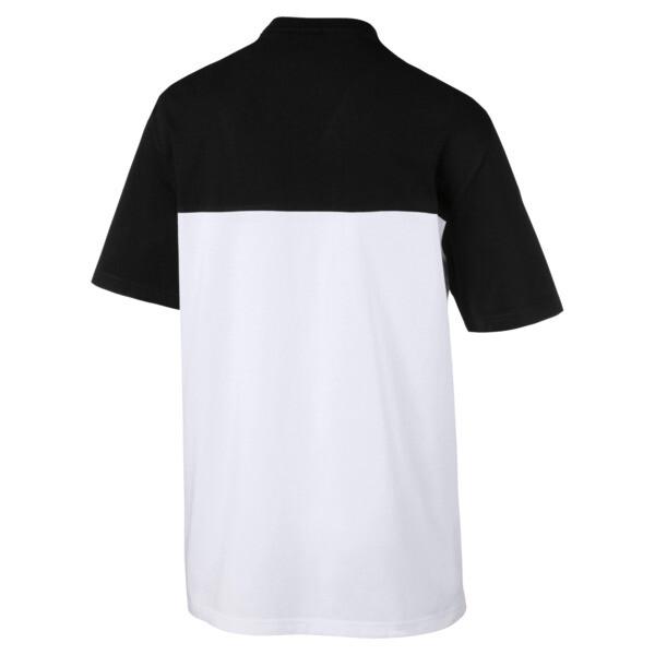 Retro Short Sleeve Men's Tee, Cotton Black-1, large