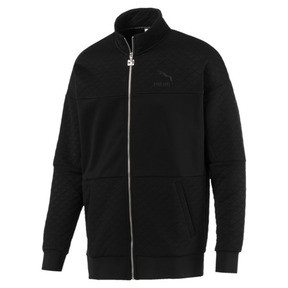 Thumbnail 1 of Archive Retro Quilted Zip-Up Men's Sweat Jacket, Puma Black, medium
