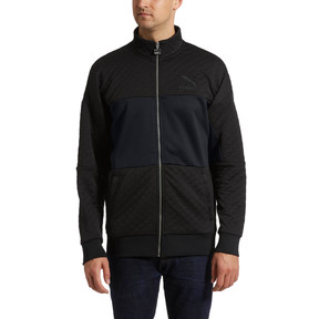 Thumbnail 2 of Archive Retro Quilted Zip-Up Men's Sweat Jacket, Puma Black, medium