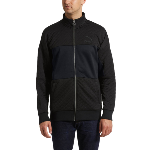 Archive Retro Quilted Zip-Up Men's Sweat Jacket, Puma Black, large