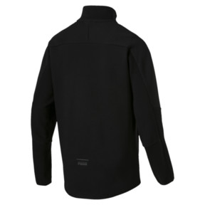 Thumbnail 4 of Pace Savannah Quarter Zip Men's Pullover, Puma Black, medium