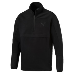 Thumbnail 1 of Pace Savannah Quarter Zip Men's Pullover, Puma Black, medium