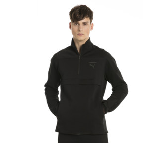 Thumbnail 2 of Pace Savannah Quarter Zip Men's Pullover, Puma Black, medium