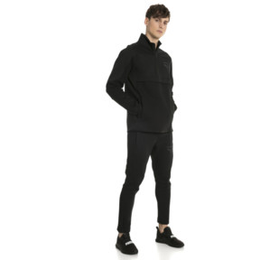 Thumbnail 5 of Pace Savannah Quarter Zip Men's Pullover, Puma Black, medium