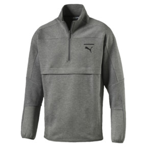 Thumbnail 1 of Pace Savannah Quarter Zip Men's Pullover, Medium Gray Heather-MGH, medium