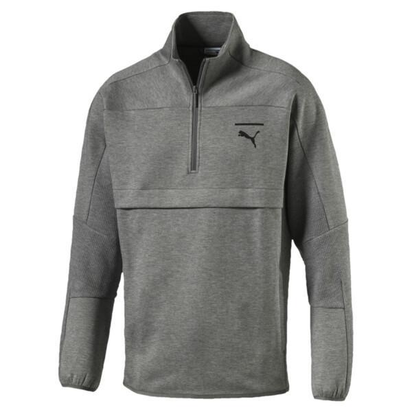 Pace Savannah Quarter Zip Men's Pullover, Medium Gray Heather-MGH, large