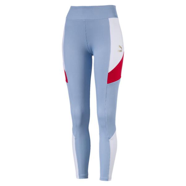 Retro Rib Women's Leggings, CERULEAN, large