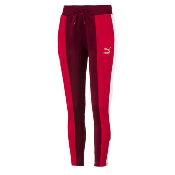 Retro Women's Track Pants, Pomegranate, large