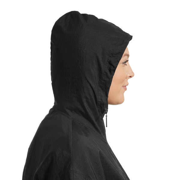 Retro Windrunner Zip-Up Women's Hooded Jacket, Puma Black, large