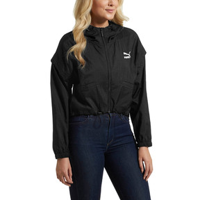 Thumbnail 2 of Retro Windrunner Zip-Up Women's Hooded Jacket, Puma Black, medium