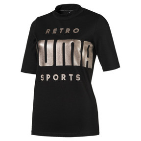 Thumbnail 1 of Retro Women's Tee, Cotton Black, medium