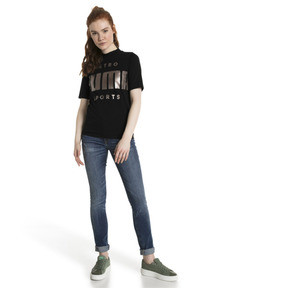 Thumbnail 5 of Retro Women's Tee, Cotton Black, medium
