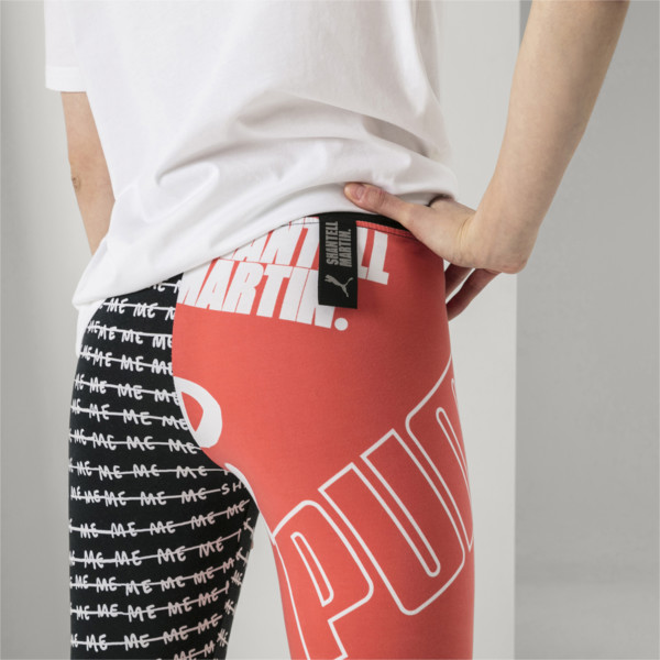 PUMA x SHANTELL MARTIN Women's Tights, Puma Black--AOP, large