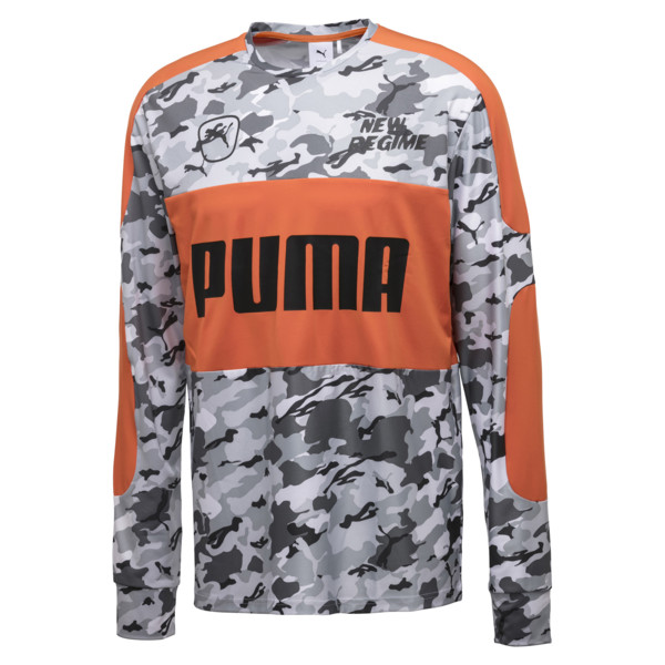 PUMA x ATELIER NEW REGIME LS TEE, Puma White--snow camo, large-JPN