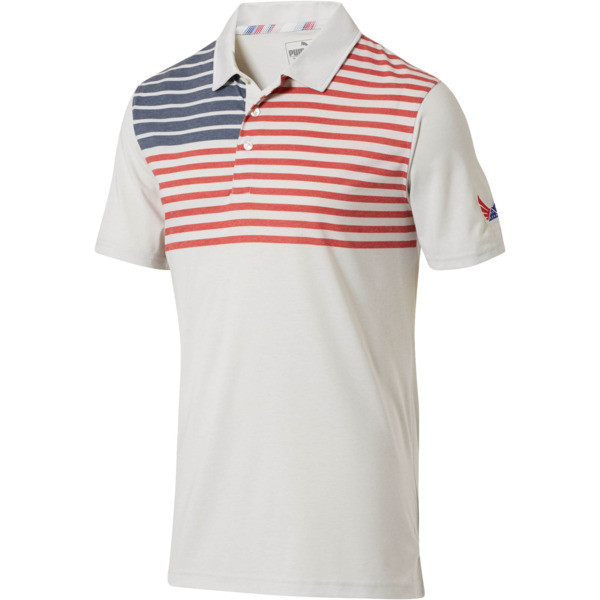 Volition Patriot Polo, High Risk Red Heather, large