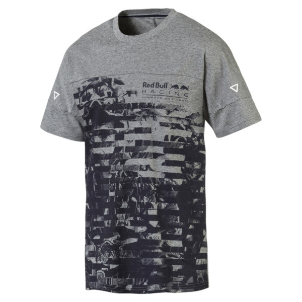 Red Bull Racing Life Graphic T-Shirt 2, Medium Gray Heather, large
