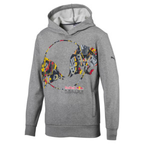 Thumbnail 1 of Red Bull Racing Double Bull Men's Hoodie, Medium Gray Heather, medium