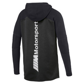 Thumbnail 2 of BMW MMS evoKNIT Quarter Zip Hooded Men's Pullover, Puma Black Heather, medium