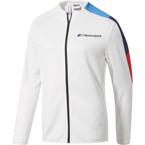 BMW M Motorsport Men's T7 Track Jacket, Puma White, large