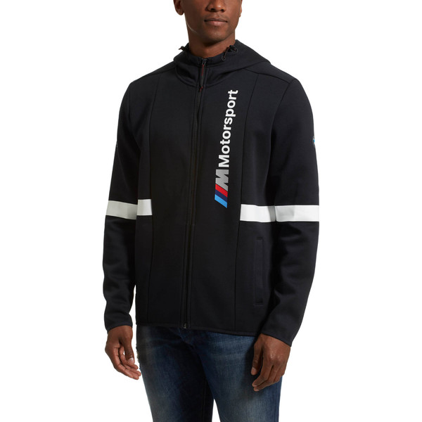 BMW Zip-Up Men's Hoodie, Anthracite, large