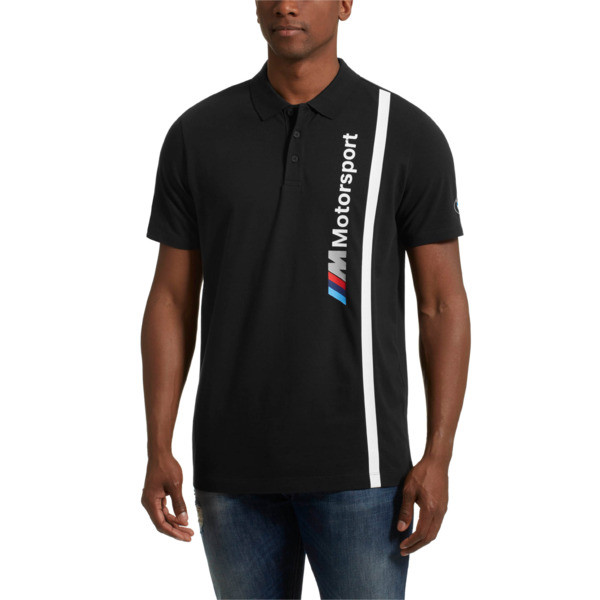 BMW M Motorsport Men's Polo, Anthracite, large
