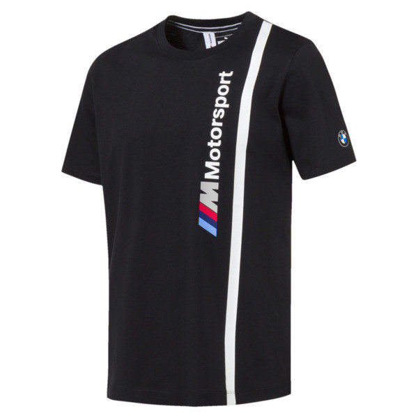 BMW M Motorsport Men's Logo Tee, Anthracite, large