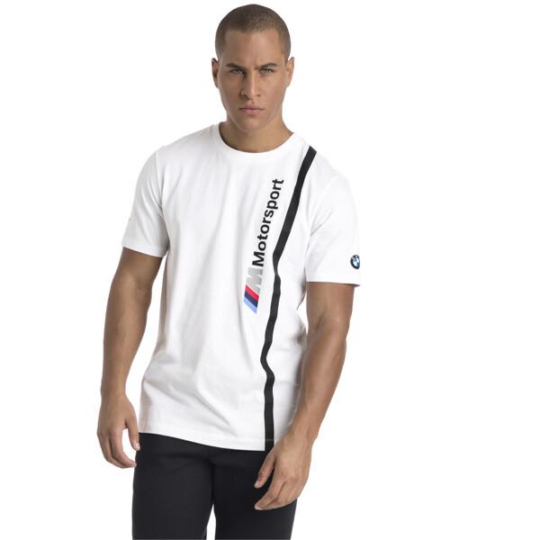 BMW M Motorsport Herren Logo T-Shirt, Puma White, large