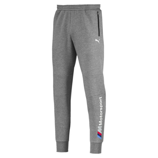 BMW M Motorsport Men's Sweatpants, Medium Gray Heather, large