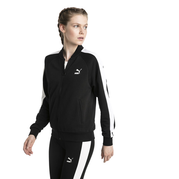 Classics T7 Women's Track Jacket, Cotton Black, large