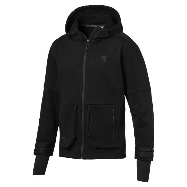 Scuderia Ferrari Life Men's Midlayer Full Zip Hooded Jacket, Puma Black, large