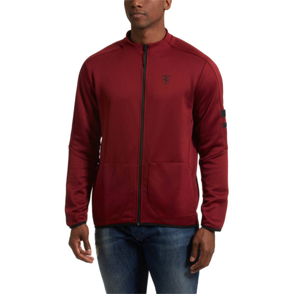 Scuderia Ferrari T7 Men's Track Jacket, Pomegranate, large