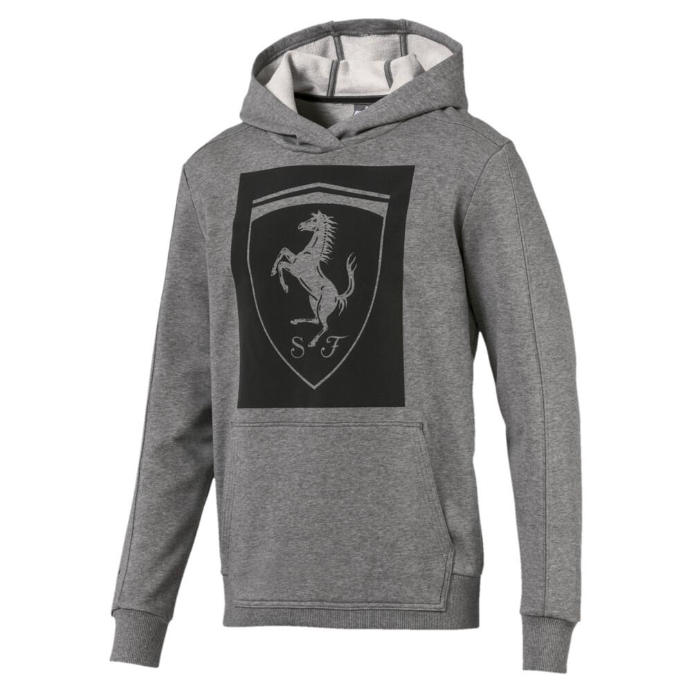 Scuderia Ferrari Big Shield Men S Hoodie Gray Puma