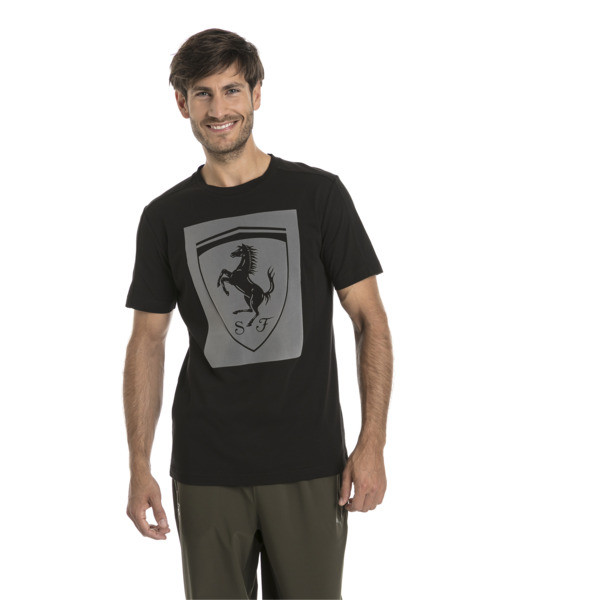 Ferrari Lifestyle Herren Big Shield T-Shirt, Puma Black, large