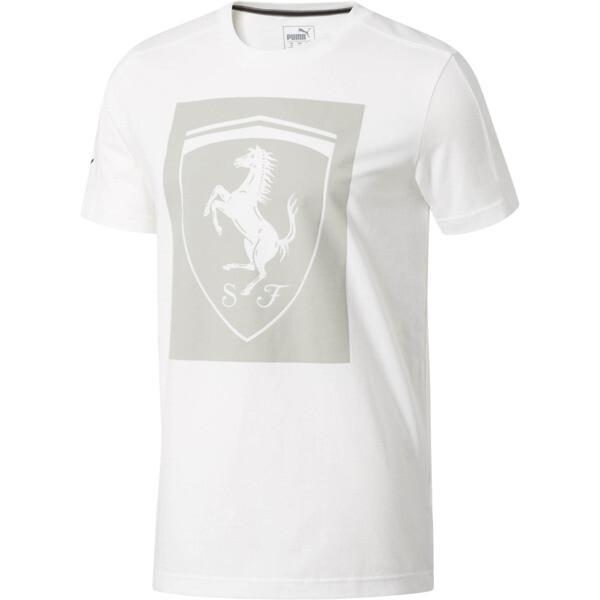 Scuderia Ferrari Big Shield Men's Tee, Puma White, large