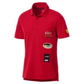Thumbnail 1 of Scuderia Ferrari Men's Street Polo, Rosso Corsa, medium