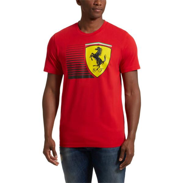 Scuderia Ferrari Men's Big Shield Tee, Rosso Corsa, large