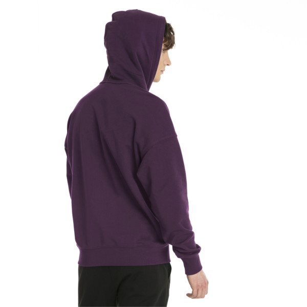 Downtown Oversize Men's Hoodie, Shadow Purple, large