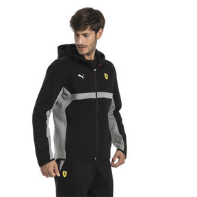 Thumbnail 2 of Ferrari Herren Kapuzen-Sweatjacke, Puma Black, medium
