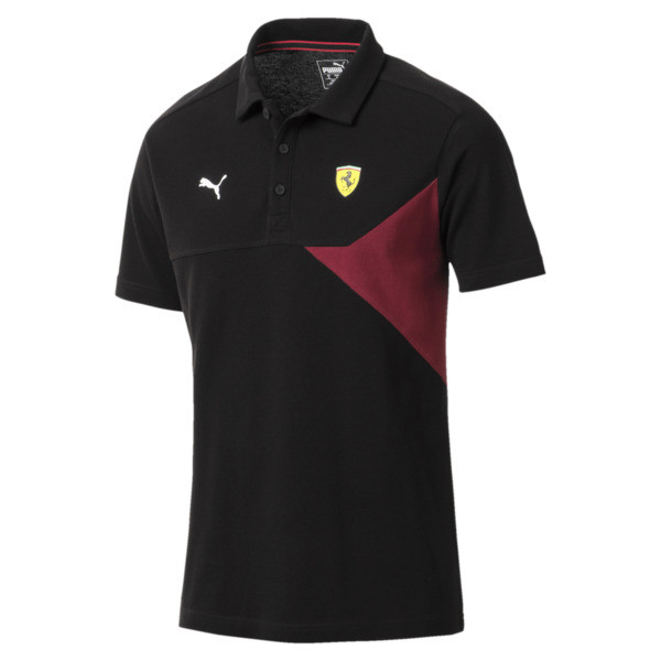 Scuderia Ferrari Men's Polo, Puma Black, large