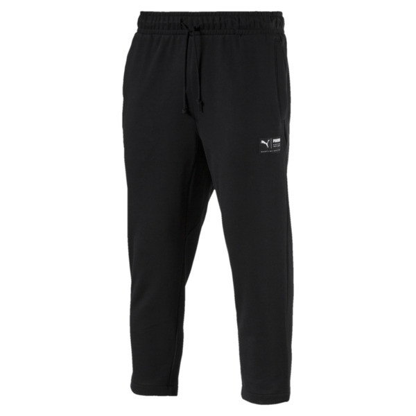 Downtown Cropped Men's Sweatpants, Puma Black, large