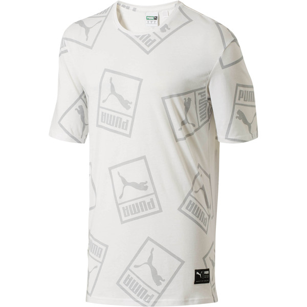 Graphic Downtown T-Shirt, Puma White, large