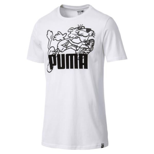 Graphic Retro Sports T-Shirt, Puma White, large
