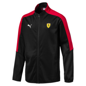 Thumbnail 1 of Scuderia Ferrari Kids T7 Track Jacket, Puma Black, medium