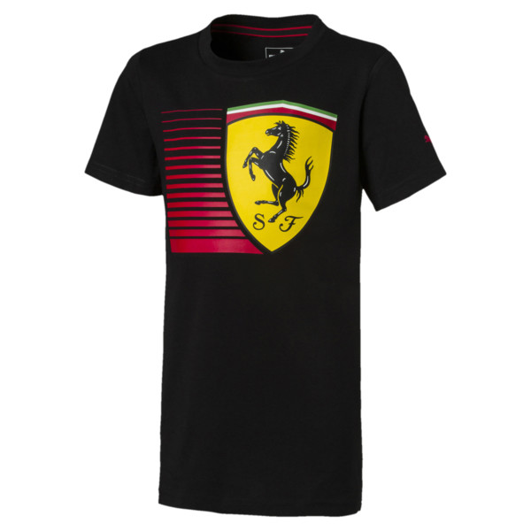 T-Shirt Ferrari Big Shield pour enfant, Puma Black, large